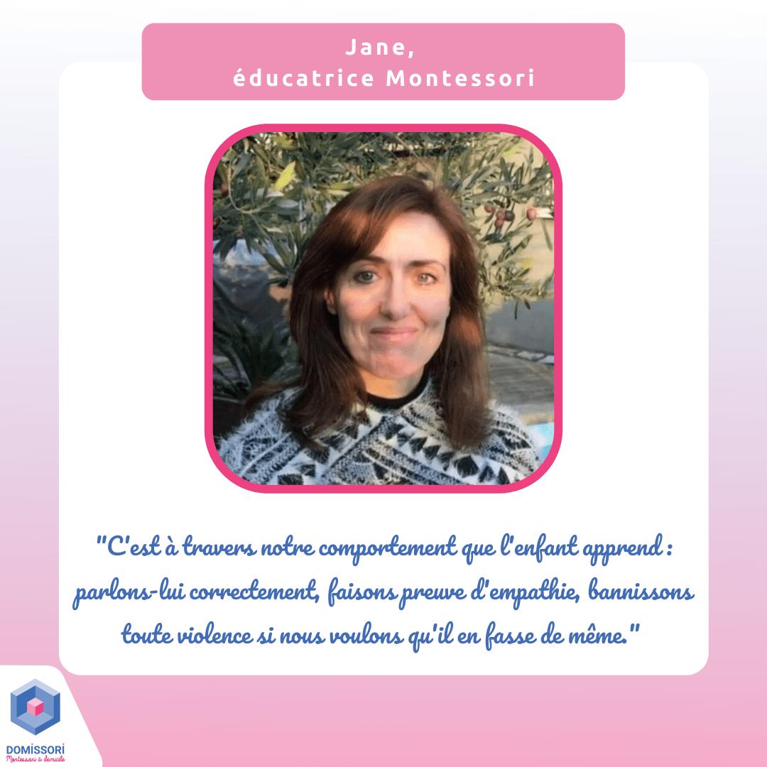Jane, éducatrice Domissori